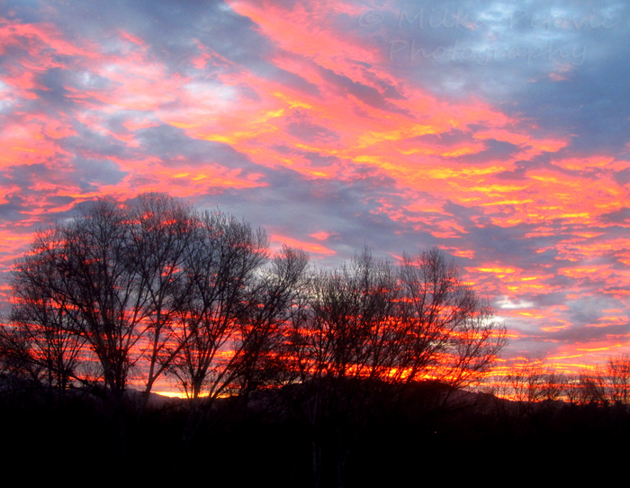 2013 photo calendar: January sunrise