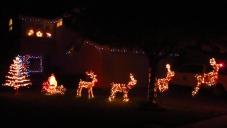 Santa's sleigh taking off