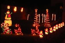 Christmas lights - snowman, Santa sleigh