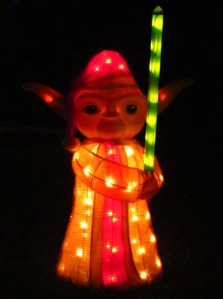 Yoda Christmas light display