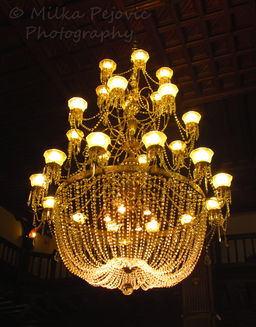 WordPress weekly photo challenge: Curves of the chandelier at the Hotel Del Coronado