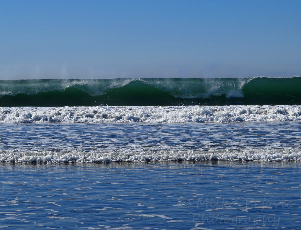 Travel theme: Peaceful waves at Coronado Beach in San Diego