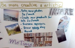 Sunday post: Goals - 2013 vision board - be more creative