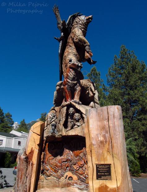 Cece's Fun Foto Challenge - Wood - Wood sculpture in Idyllwild, California