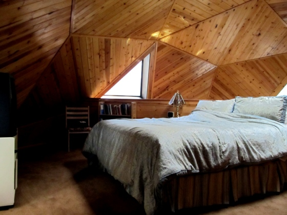 Idyllwild dome house, all out of wood