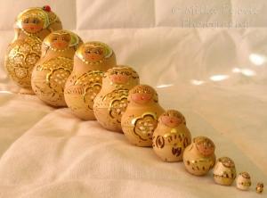 Sunday Post: Arrangement of Russian nesting dolls in diagonal