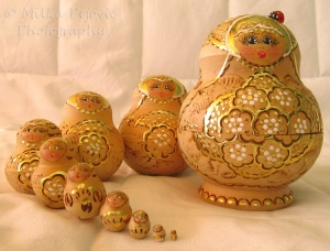Family of Russian nesting dolls