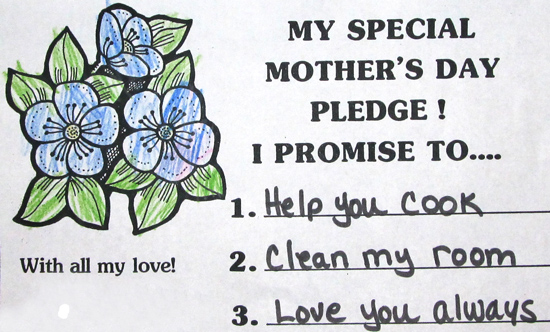 Sunday Post: Mother's Day pledge