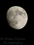 Wordpress weekly photo challenge: Masterpiece - almost full moon with moon craters