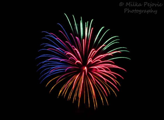 Travel theme: Motion of Fourth of July fireworks