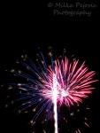 American flag firework display