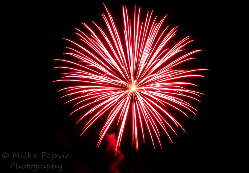 Red burst - 4th of July firework display