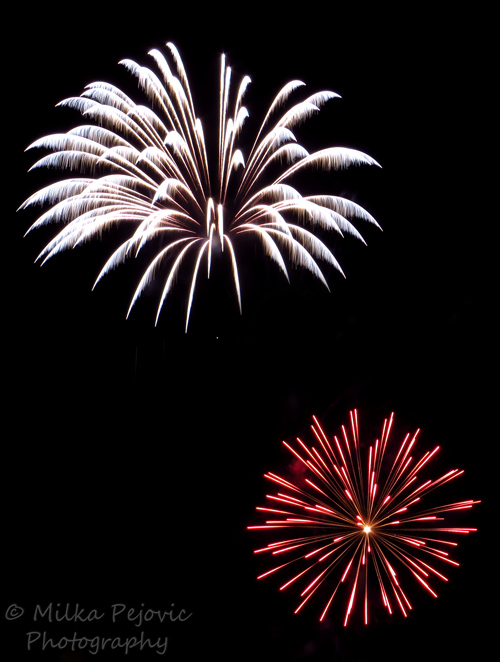 White and red fireworks