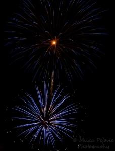 Fourth of July fireworks - blue fireworks