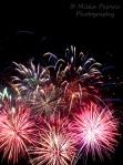 Burst of firework displays
