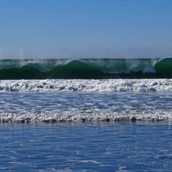 August - ocean waves